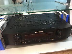 Marantz AV surround receiver, NR1602, black, slimline