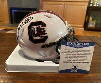 Deebo Samuel Autographed South Carolina Gamecocks White Mini Helmet Beckett