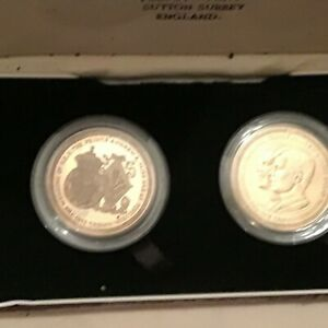 Extremely Rare Prince Andrew and Sarah Ferguson  Silver Proof Coin Set