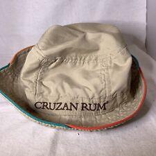 Cruzan Rum Bucket Hat Beige Stitched Cap