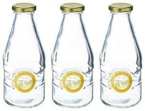 3 x Kilner 1 Pint Milk Bottles, Glass Milk Bottles  [7659K]