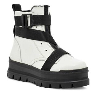 UGG Sid Combat Inspired Leather Boot Color: White Size US 6.5 Style: W/116136