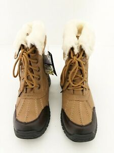 New Unisex Kids Snow Fun Camel Brown Insulated Fur Lined Snow Boots UK Sizes