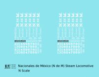 K4 N Decals Ferrocarriles Nacionales De Mexico Steam Locomotive NDEM N De M