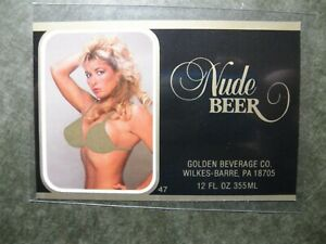 Nude Beer Label Golden Beverage Co. Wilkes-Barre, PA