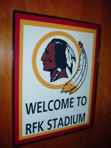 Washington Redskins Throwback Football Game Room Bar Man Cave Sign