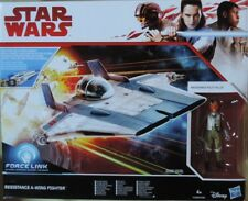 Star Wars Hasbro Force Link Resistance A-Wing Fighter+ Pilot Ovp/moc