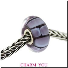AUTHENTIC TROLLBEADS 61412 Purple Fusion Glass Bead