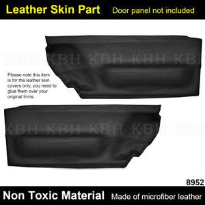 Leather Front Door Panel Insert Card Cover for Volkswagen Beetle 1998-2010 Black