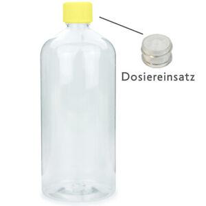 10 x  Laborflasche PE Flasche Leerflasche Rundflasche klar 1000ml 1Liter