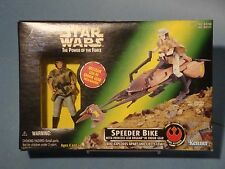 Star Wars Power Of The Force Princess Leia With Speederbike! Nm!