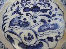 Chinese Blue white Mandarin Duck Porcelain Plate