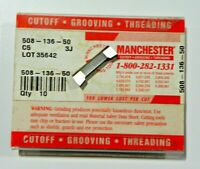 10 PIECES, MANCHESTER, 508-136-50 C5 CARBIDE INSERTS,   H424