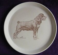 "Crescendo Memento, Honiton 9.25"" Plate: Rottweiler by Jane Faber - See Photos"
