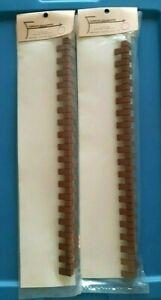 """LOT of 2 Dollhouse Miniature """"Brick Masters"""" Brick Corner Pc - Farrow Industries"""