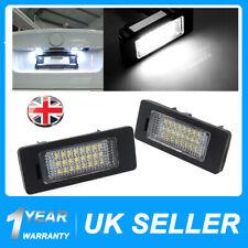 2x LED License Plate Number Lights For BMW1 3 5 X Series E82 E90 E92 E70 E39 F30