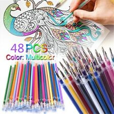 48PCS Random Glitter Gel Pens Coloring Drawing Painting Craft Markers Stationery