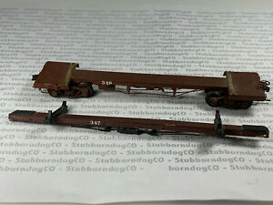 HO Scale North West Short Line Two Brass Logging Flatcars