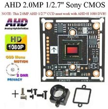 "AHD HD 1080P 2.0mp 1/2.7"" CCTV Color Board Camera OSD Menu + Base Mount A-69O"