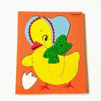 Vintage Playskool Puzzle Chick 10 Pieces