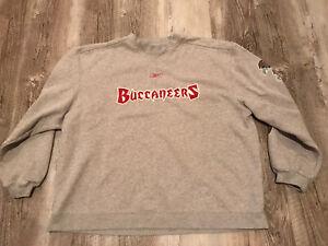 Reebok Tampa Bay Buccaneers Crew Neck Sweatshirt Men's Size XL Gray
