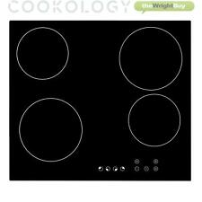 Cookology TCH601 60cm Ceramic Hob in Black, Built-in worktop & Touch Controls