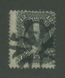 1867 États-unis Envoi Tampon #90 D'Occasion Déguisement Liège Cancel