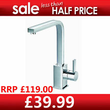 Clearance Sale - Kitchen Square Chrome Swivel Single Lever Sink Tap  F640A