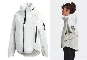 new adidas MYSHELTER Parley R.R women's L waterproof rain outdoor jacket white