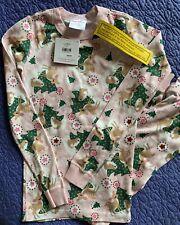 NWT Hanna Andersson Holiday Organic Cotton Long John Pajamas - 140
