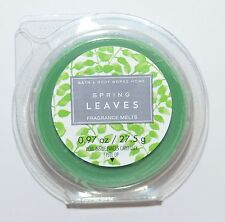 1 NEW BATH & BODY WORKS SPRING LEAVES WAX MELTS TART WHITE BARN CANDLE REFILL