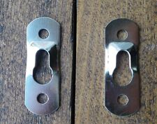 NEW Pack of 4 keyhole hanging brackets, picture etc silve finish c/w screws C063