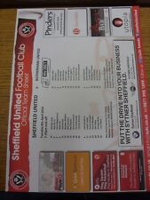 08/04/2014 COLORI teamsheet: Sheffield United V Rotherham United. eventuali difetti WIT