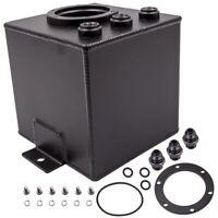 2L Racing Car Swirl Fuel Surge Pot Tank AN6 For External Highflow 044 Fuel Pump