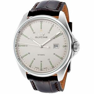 Glycine 3890.11.LBK7F Men's Combat 6 Silver-Tone Automatic Watch