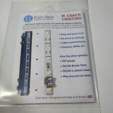 More details for coach lighting strip - cool white - n gauge - train tech cn1 -