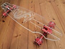 GHOST Longboard USA Exklusiv Custom Acrylglas Deck LED Rollen Skateboard Dragon