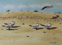 Royal Tern, Bird, Ocean, Beach, Nautical, Original Watercolor Painting, Signed