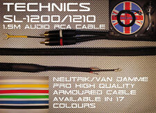 Technics sl-1200/1210 xtex Protex Snakeskin Blindado Audio Phono Cable 1.5mM