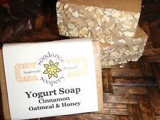 Homemade YOGURT SOAP Handmade~ Cinnamon~ Honey ~Shea Butter~Avocado Oil ~Oatmeal
