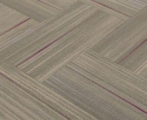"""SHAW Chevron Blur Magenta Fluid Carpet Tiles 18"""" x 36"""" (10 PIECES)"""