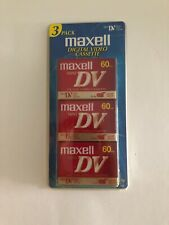 3 Pack Maxell Mini DV Digital Video Cassette 60 Minutes SEALED