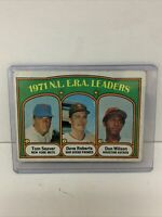 1972 Tom Seaver Topps Baseball Card #91 NL ERA Leaders