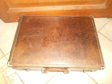 Ancienne Vintage Valise Attaché Case Serviette Cuir Principe Made in Italie