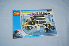 Genuine LEGO Instruction Manual 7033 Armored Car Action World City No Bricks