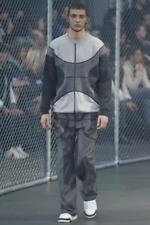 Givenchy Runway 100% Wool Gray Pants Rubbereized Basketball sz 46 30 32 New