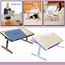 PORTABLE FOLDABLE LAPTOP DESK ADJUSTABLE BED, SOFA LAP TRAY COMPUTER TABLE STAND