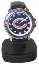 Chicago Bears Classic Men's Sport Watch with Black Leather Band