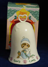 Precious Moments Porcelain Holiday Bell Christmas 1995