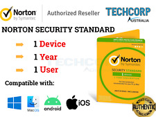 GENUINE NORTON SECURITY STANDARD KEY 2020 -3 DEVICES 1 YEAR- WIN/MAC/IOS/ANDROID